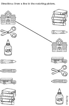 Back to school vocabulary booklet and activities