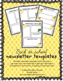 Back to school weekly newsletter and homework templates for teachers