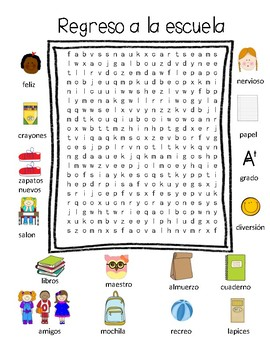 Back to school wordsearches
