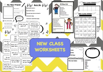 Back to school worksheets for your new class! ICE BREAKERS