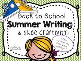 "Back to school writing and craft: ""This summer my feet went walking"""