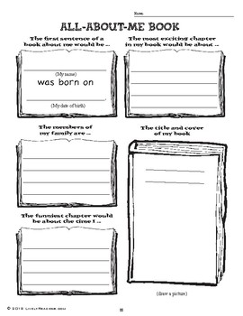 Back to school writing and drawing activities