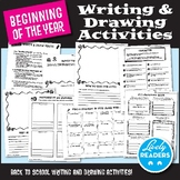 Back to school writing and drawing activities, grades 2, 3, 4, 5