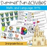 Summer Beach Activities Math and Language Arts