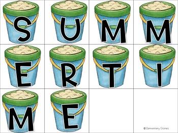 Summer Beach Activities Language Arts, Math and Writing Bundle