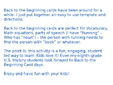 Back to the Beginning cards