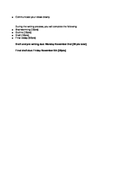 Back to the Future Essay Unit Bundle
