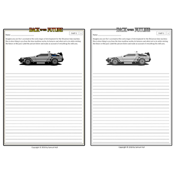 Back to the Future Movie Guide + Activities - Ans Key Inc.(Color + B&W)