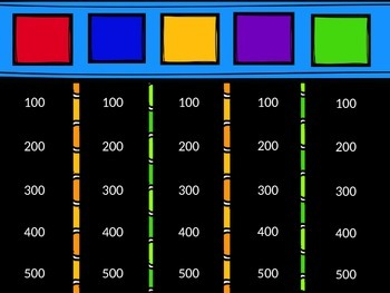 Back2School Editable Jeopardy Template