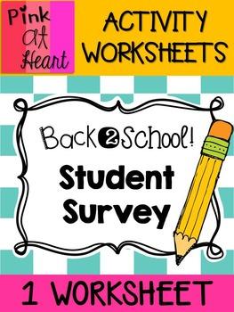Back2School - Student Survey FREEBIE
