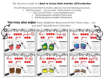 Back2School - KINDERGARTEN - Counting Flashcards Books