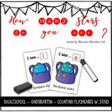 Back2School - KINDERGARTEN - Counting Flashcards Stars