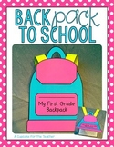 BackPACK to School {Craftivity}
