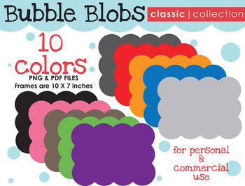 FRAMES: Bubble Blob {Classic Collection}