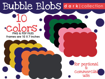 FRAMES: Bubble Blob {Dark Collection}