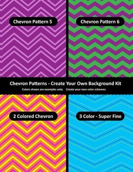 Background / Digital Paper Creator - Photoshop Template - Chevron Backgrounds