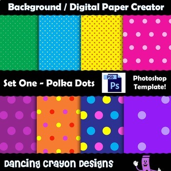 Background / Digital Paper Creator - Photoshop Template -