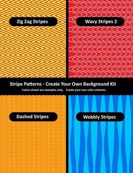 Background / Digital Paper Creator - Photoshop Template - Stripe Backgrounds