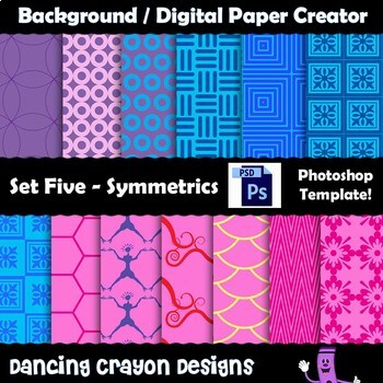 Background / Digital Paper Creator - Photoshop Template -Symmetrical Backgrounds