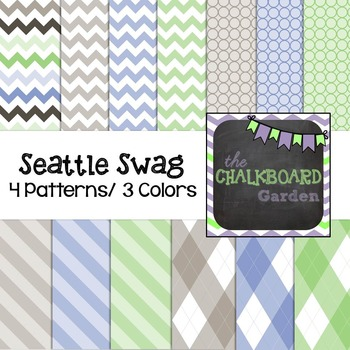 Background Digital Scrapbooking Paper - Seattle Swag