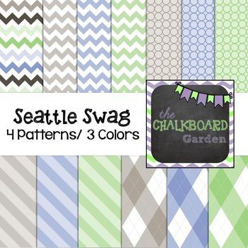 Background Digital Scrapbooking Paper - Seattle Swag