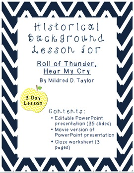 Roll of Thunder, Hear My Cry: Background / Historical Context Lesson