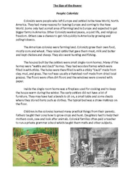 Background Information for Sign of the Beaver