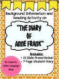 "Background Information on ""The Diary of Anne Frank"""