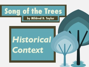 Background Knowledge: Song of the Trees, by Mildred D. Taylor
