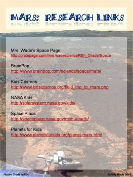 Background Pages ~ Mars