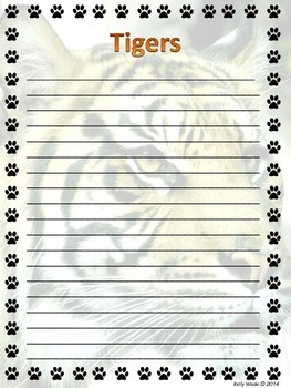 Background Pages ~ Tigers