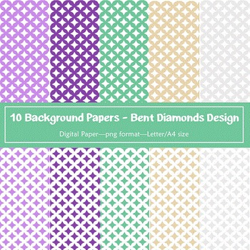 Background Paper - 10 Bent Diamond Designs Digital Papers