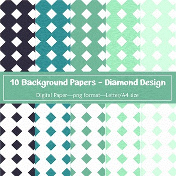 Background Paper - 10 Diamond Designs Digital Papers