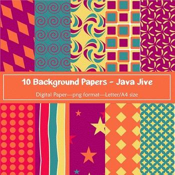 Background Paper - 10 Java Jive Designs Digital Papers