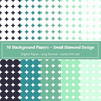 Background Paper - 10 Small Diamond Designs Digital Papers