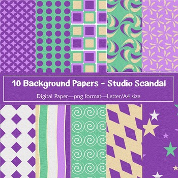 Background Paper - 10 Studio Scandal Designs Digital Papers