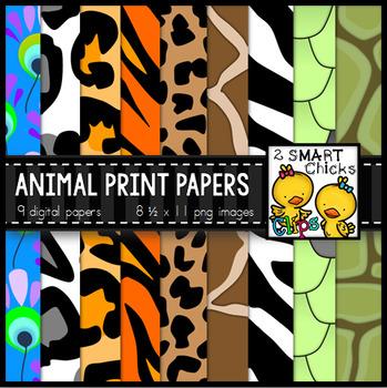 Background Paper – Animal Print Bundle