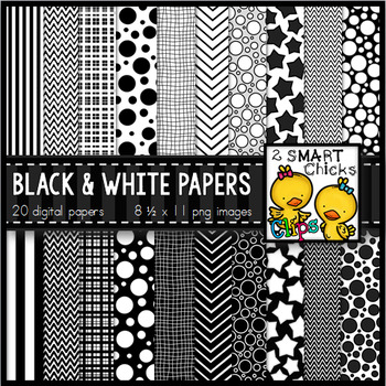 Background Paper – Black and White Bundle