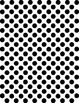 Background Paper ~ Black and White Dots