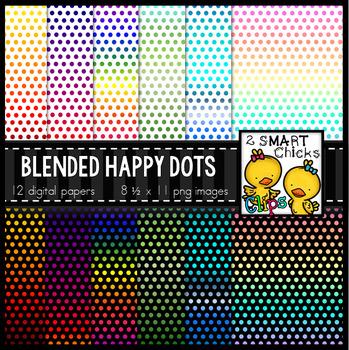 Background Paper – Blended Happy Dots Bundle