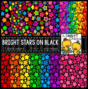 Background Paper – Bright Stars on Black Bundle
