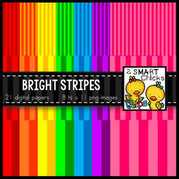 Background Paper – Bright Stripes Bundle