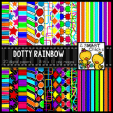 Background Paper – Dotty Rainbow Bundle