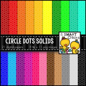 Background Paper – Circle Dots Solids Bundle