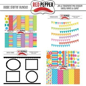 Background Paper & Clipart - Basic Starter Bundle