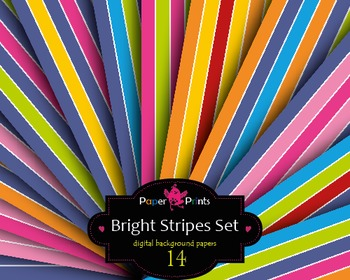 Background Paper Digital Scrapbooking Paper Multicolor Bright Stripes