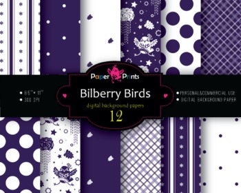 Background Paper Digital Scrapbooking Paper Purple and White Mix