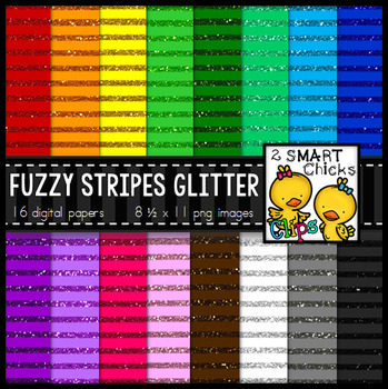 Background Paper – Fuzzy Stripes Glitter