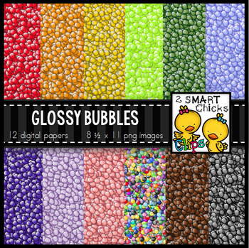 Background Paper – Glossy Bubbles Bundle