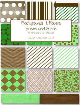 Background & Paper (Green and Brown)